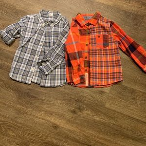 Cute! Toddler boys bundle of 2 button-downs